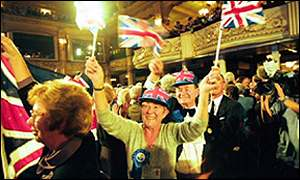 Conservative members at the 1999 party conference