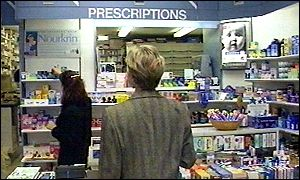 Shopper at a pharmacy