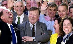 Ken Clarke and supporters