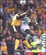Marvin Andrews rises above Momo Sylla