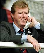 Steve McClaren watches from the stands
