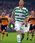 Henrik Larsson cannot believe his miss