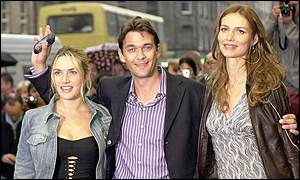 Winslet with co-stars Dougray Scott and Saffron Burrows
