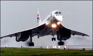 Concorde landing at Heathrow Airport