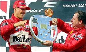 Michael Schumacher and Ferrari sporting director Jean Todt.