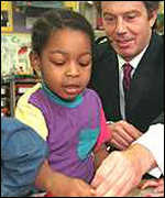 [ image: Tony Blair wants children to grow up with the technologies of the future]