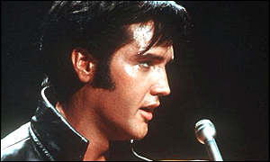 Elvis Presley - the King of Rock and Roll - singing in 1968.