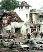 [ image: Work of the Continuity IRA: Hotel bomb in Enniskillen in 1996]