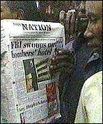 [ image: Kenya's Daily Nation newspaper broke news of the raids]