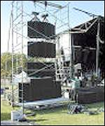 A sound system at Jam in the Park