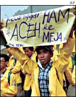 Acehnese referendum demonstrators