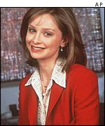 Calista Flockhart as Fox Network's Ally McBeal