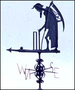The weather vane at Lord's, London
