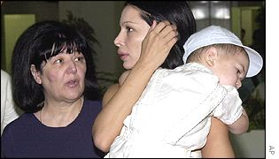Milosevic's wife, daughter-in-law and grandson