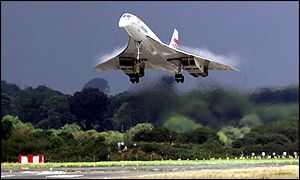 Concorde landing at Shannon Airport, Ireland