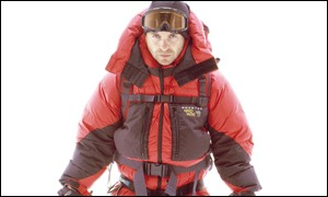 Scottish dot.com founder Michael Jackson in mountaineering gear
