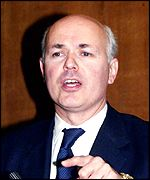 Iain Duncan Smith, shadow defence secretary and contender for the Conservative crown