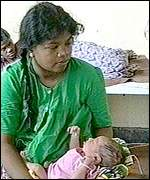 Mother and child in hospital