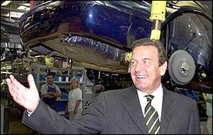 Gerhard Schroeder at Skoda factory