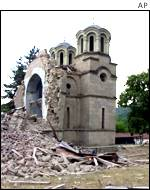 Orthodox church blown up in Macedonian village of Lesok