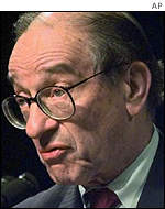 Alan Greenspan sees weakness as the greatest threat to the US economy