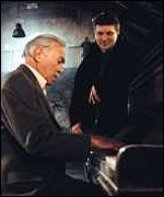 Christopher Plummer, who plays prison governor Graham Mortimor, rehearses with director Peter Cattaneo