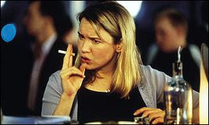 Rene Zellwegger in Bridget Jones's Diary, the film adapted from the successful Helen Fielding novel
