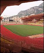 The Stade Louis II stadium