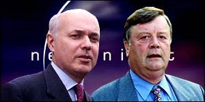 Iain Duncan Smith and Ken Clarke will appear on Newsnight at 2230BST