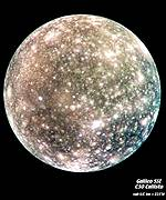 Callisto globe in colour, Nasa/JPL/Arizona State University
