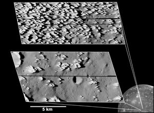 Callisto surface, Image: Nasa/JPL/DLR(German Aerospace Centre)