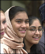 Pupils at Fitzalan High School celebrate their results