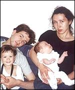 Dmitry Sklyarov with his wife and two children