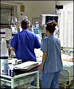 Hospital staff at work