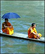 Monks in boat