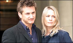 Sean Penn and wife Robin Wright Penn