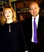 Former Welsh Secretary William Hague with wife Ffion