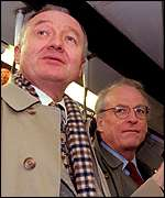 London Mayor Ken Livingstone and his transport commissioner Bob Kiley