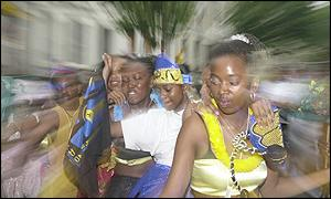 Revellers enjoying the carnival