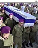 Funeral of soldier Gil Oz, killed when Palestinians attacked his army base
