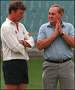 Mike Atherton and then chairman of selectors Mike Atherton