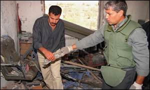 Destroyed office of PFLP leader