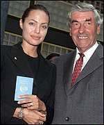 Angelina Jolie and Ruud Lubbers