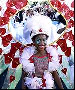 participant in Notting Hill Carnival