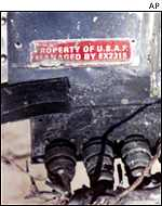 US nameplate from Iraqi TV video