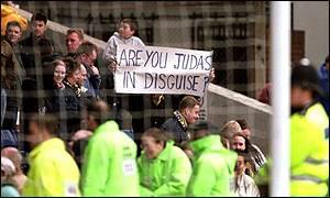 Dons fans protest at the proposed move