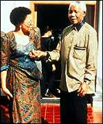 Graca Machel and her husband Mr Nelson Mandeal