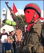 An armed member of the Popular Front for the Liberation of Palestine