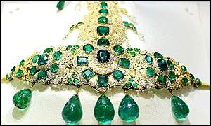 a turban ornament which is part of the Nizams jewellery