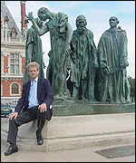 William Horsley and the Rodin statue, the Burghers of Calais
